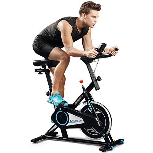 ANCHEER Indoor Cycling Bike, Smooth Quiet Belt Drive Indoor Stationary Exercise Bike (Model: ANCHEER-M6008)