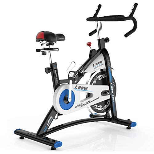 L NOW Indoor Cycling Bike Stationary Bike Exercise Bike with Heart Rate& Bottle Holder