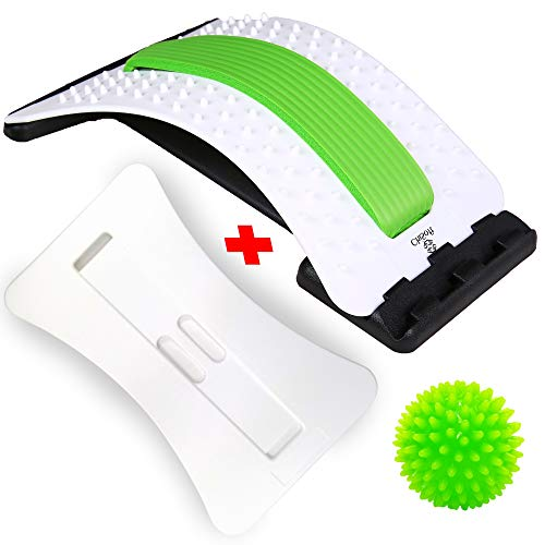 Best Arched Back Stretcher As Seen Doctors TV + 2 Different Boards, CHISOFT (2nd Edition) Lumbar Stretching Device + 2 Foam Cushion + Posture Corrector, Lumbar Traction, Sciatica Relief