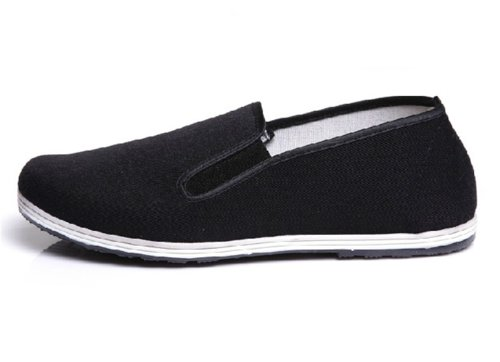 UNOW Chinese Traditional Cloth Kung Fu Shoes,Classic Soles,Black,43 | (US:Men 9.5 | Women 10.5-11)