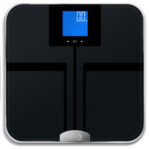 EatSmart Precision Getfit Digital Body Fat Scale with Auto Recognition Technology