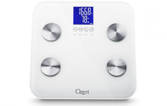 Ozeri Touch 440 lbs Total Body Bath Scale