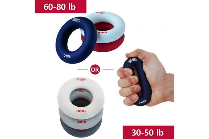 HomeGym 4U 3-in-1 Hand Strengthener Grip Rings
