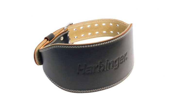 harbinger padded leather contoured weightlifting belt